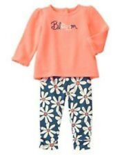 NWT Gymboree Girls The Daisy and The Tiger 2-Piece Set Size 3-6M 12-18M 18-24M