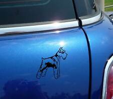DETAILED SCHNAUZER GIANT MINIATURE DOG GRAPHIC DECAL STICKER ART CAR WALL DECOR
