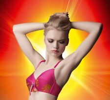 MADE BY NIKI BRA ELECTRIC SHOCK FRONT CINCH RETRO VINTAGE PINK SATIN/LACE NEW