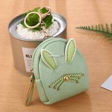 Women Synthetic Leather Cute Rabbit Ear Pattern Coin Purse Wallet with ES9P