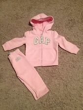 NWT~Baby Gap Pink full zip Hoodie Outfit Girl New with Tags 12-18 months 2T Set