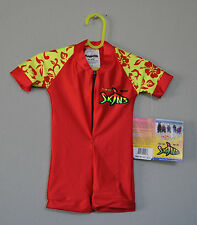 Radicool Rash Guard SPF UPF Swimwear Red Yellow Hawaiian Wetsuit - Size 8 6
