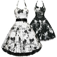 Hearts And Roses London Floral 50s Rockabilly Pinup Party Swing Prom Dress UK