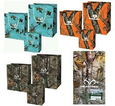 Camo Realtree Mossy Oak Camouflage 3 Pc Gift Bag Sets Gift Wrap Tissue Paper NEW