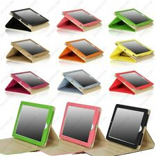 For iPad 4 3 2 Buckle Button Belt Smart Leather Folio Case Cover Stand +Gift Set