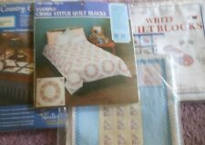 CHOOSE ONE:STAMPED QUILT BLOCKS/DOILIES-CROSS STITCH/EMBROIDER J.DEMPSEY/DFTN