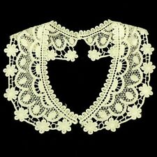 Vintage Period Guipure Lace collar, Cream or Ivory lace Sewn On Dressmaking, L52