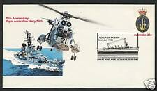 1986 75th ANNIVERSARY OF ROYAL AUSTRALIAN NAVY - HMAS ADELAIDE CACHET