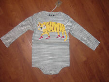 BNWT JOULES BOYS BABY SNAZZY TIGER IN TRAINERS ROMPER SUIT 18-24 MONTHS.