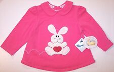 NWT All Mine LS Pink Textured Bunny Swing Top, 12 Mos., Adorable!