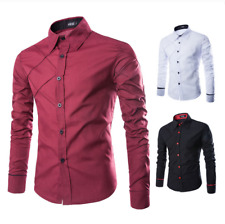 2018 Mens Luxury Stylish Casual Dress Slim Fit T-Shirts Casual Long Sleeve Tops