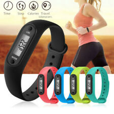 LCD Run Step Watch Bracelet Pedometer Calorie Counter Digital Walking Distance U