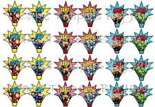 Edible Marvel cupcake toppers - Marvel Avengers - icing sheet - stand ups
