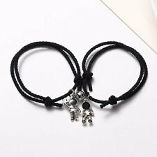 2/3P Broken Heart BFF Best Friends Yin Yang Chain Pendant Necklace Birthday Gift