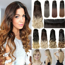 Real Thick Clip In Hair Extensions Long Curly Full Head Hair Extention Ombre l77
