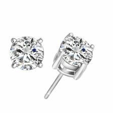 Women's 18K White Gold Filled Crystal CZ Zircon Inlaid Ear Stud Earrings Jewelry