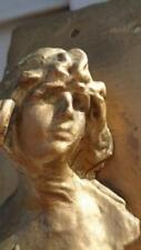 Slate Plaque with a Women Bust Came form Pentabella Apt  New Orleans  Art