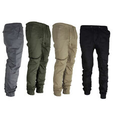 KQ_ Men's Twill Jogger Pants Hip Hop Harem Casual Trousers Slim Fit Elastic Chea