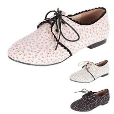 Ballet Flats Ballerinas Lace Up Fashion Oxford Ladies Flats AU 4-10