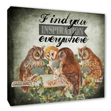 Inspirational Quote Wall Owls Picture Find Your Inspiration Wall Canvas Print