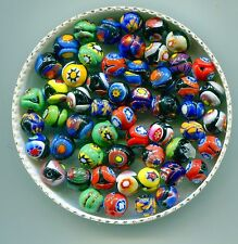 *Vintage Venetian Murano Millefiori Beads 7mm Art Glass Assorted Colors B1452B.