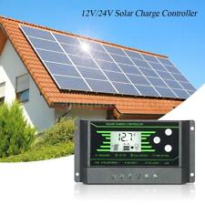 Solar Charge Controller 12V 24V LCD Display Dual USB Solar Panel Charger K6S2