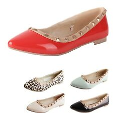 Womens Shoes Vintage Ladies Casual Ballerinas Office Flats AU 4-8
