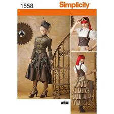 SIMPLICITY SEWING PATTERN Misses' Steampunk Costume SIZE 6 - 22 1558