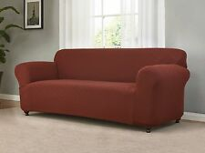 JERSEY STRETCH COVERS (SOFA/LOVESEAT/CHAIR/RECLINER) --BURGUNDY--