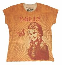 Dolly Parton Butterfly & Rays All Over Print Juniors T Shirt New Official Soft