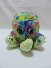 "Octopus Fuzzballs Plush Stuffed Animal Toy Bright Colors 6"" Soft Wild Republic"