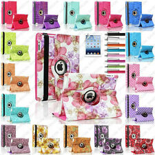 Crocodile Flower Map 360 Rotate Leather Cute Case Smart Cover For iPad 4 3 2