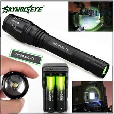 Zoomable 20000LM 5Mode  XMLT6 LED Flashlight Lamp 18650Battery+Charger VH<