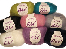 Wendy Air Kid Mohair 2ply Lace Weight Yarn 25g + Free Cowl Pattern