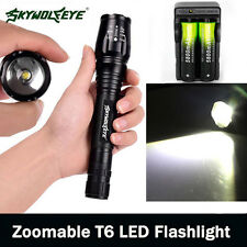 Zoomable 12000LM 5-Mode  XMLT6 LED Flashlight Lamp Light 18650+Charger U3<