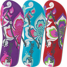 LADIES URBAN BEACH SURF PETALS FLIP FLOPS SANDALS SIZE UK 3 - 8 POOL FW571