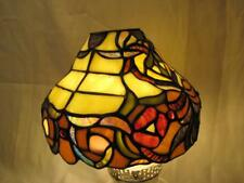 """Spectrum Tiffany Style Stained Glass Lamp / Light Shade ~ 5.25""""H X 7.75""""W AS IS"""
