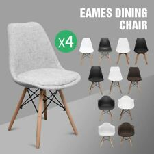 Set of 4 Retro Eames Replica DSW Dining Chair Armchair with Natural Wooden Legs