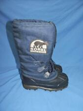 Sorel 6 Womens Navy Blue Snow Boots Kaufman Canada Lined Insulated Winter Arctic