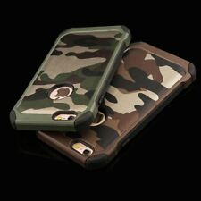 Apple iPhone Army Camo Camouflage Pattern Case Back Cover PC Hard + Soft TPU Arm
