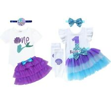 Infant Kids Baby Girl Birthday Outfit Romper Bodysuit Party Skirt Princess Dress