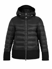 Moncler Men's Riom Black Down Quilted Puffer Hooded Coat
