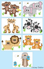 Noahs Ark Prints Neutral Baby Nursery Wall Art Safari Jungle Animals Kids Room