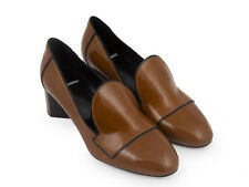 Pierre Hardy mid heels moccasins pumps in khaki patent leather