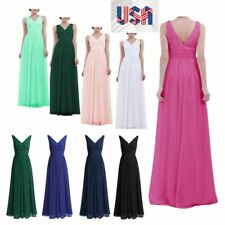 Women Hot Evening Dress Bridesmaid Wedding Prom Lace Long Dress Ball Gown Formal