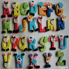 26pcs Wooden Cartoon Alphabet A-Z Magnets Child Educational Toy Baby /Child Toys
