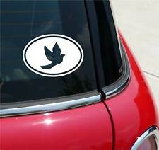 DOVE PEACE PROTEST WAR GRAPHIC DECAL STICKER ART CAR WALL EURO OVAL
