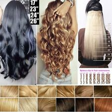 100% Natural Remy Clip in Hair Extensions 8 Pieces Full Head Long As Human Fi