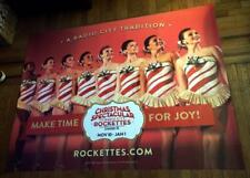 RADIO CITY MUSIC HALL ROCKETTES 5FT subway POSTER #1 2017 CHRISTMAS SPECTACULAR