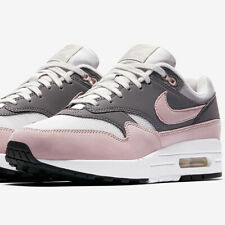 Nike Air Max 1 Sneakers Grey and Pink Size 6 7 8 9 Womens Shoes New